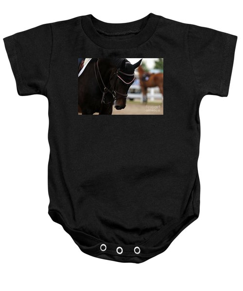 Equine Concentration Baby Onesie