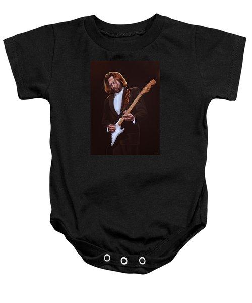 Eric Clapton Painting Baby Onesie by Paul Meijering