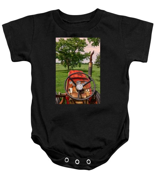 Ever Drive A Tractor Baby Onesie