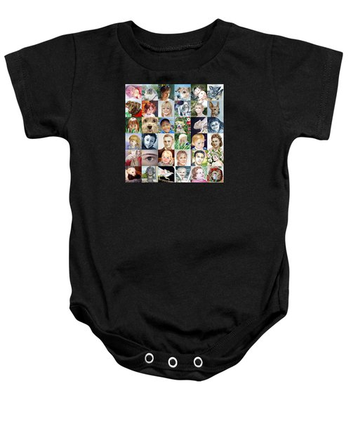 Facebook Of Faces Baby Onesie