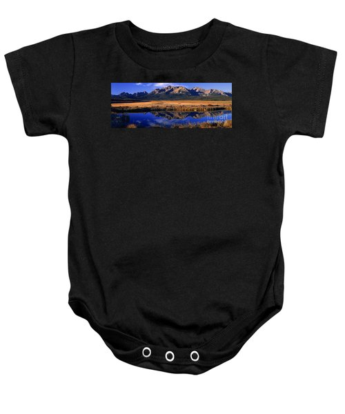 Fall Reflections Sawtooth Mountains Idaho Baby Onesie