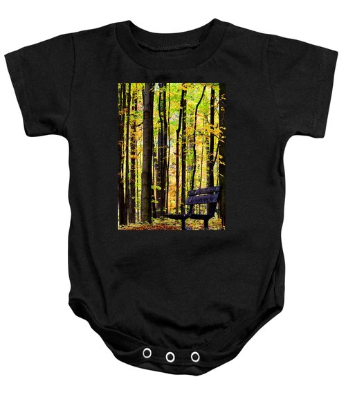 Fall Woods In Michigan Baby Onesie