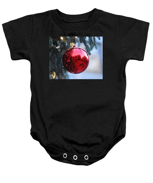 Faneuil Hall Christmas Tree Ornament Baby Onesie