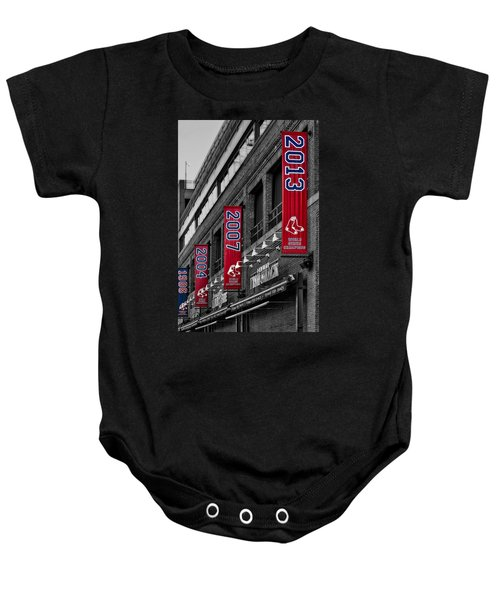 Fenway Boston Red Sox Champions Banners Baby Onesie