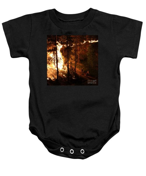 Firefighters Burn Out On The White Draw Fire Baby Onesie
