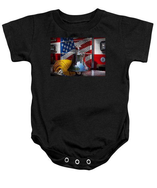 Fireman - Red Hot  Baby Onesie