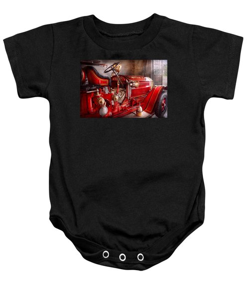 Fireman - Truck - Waiting For A Call Baby Onesie