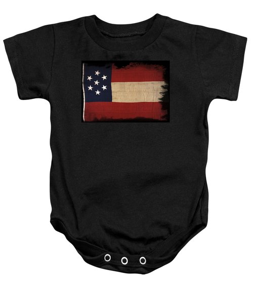 First Confederate Flag Baby Onesie