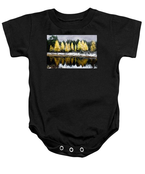 Tamarack Under A Painted Sky Baby Onesie