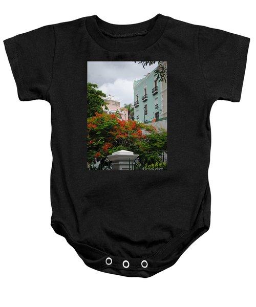 Flamboyan In Park Baby Onesie