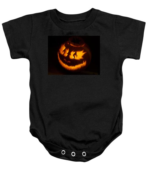 Flame Pumpkin Side Baby Onesie