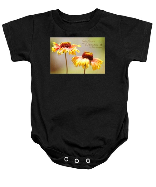 Floral Sunshine With Message Baby Onesie