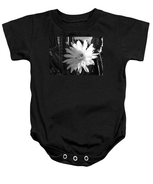 Flowering Cactus 1 Bw Baby Onesie