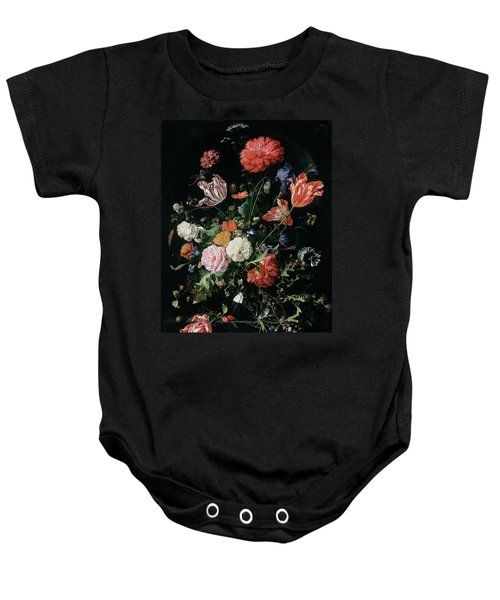 Flowers In A Glass Vase, Circa 1660 Baby Onesie