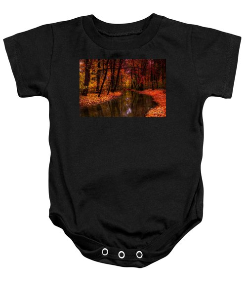 Flowing Through The Colors Of Fall Baby Onesie