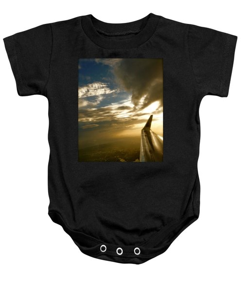 Flying Clouds By David Pucciarelli Baby Onesie