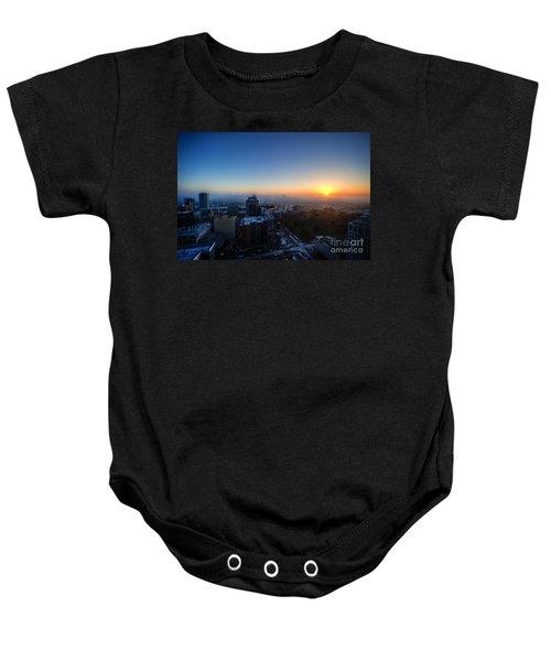 Foggy Sunset Baby Onesie