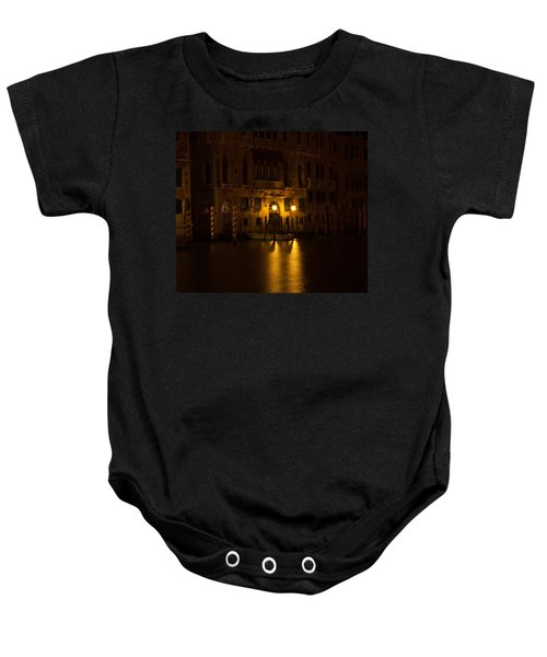 Follow Me Across The Water And Time Baby Onesie by Alex Lapidus