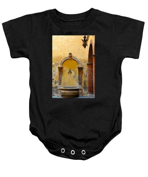 Fountain In Sienna Baby Onesie