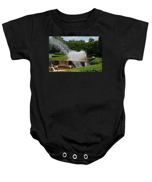 Baby Onesie featuring the photograph Fountains by Jennifer Ancker