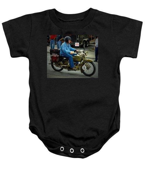 Four Cylinder Henderson Motorcycle Baby Onesie