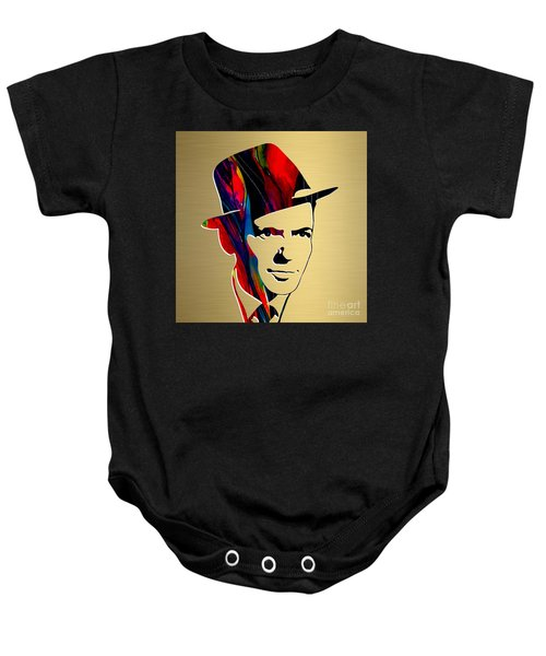 Baby Onesie featuring the mixed media Frank Sinatra Art by Marvin Blaine