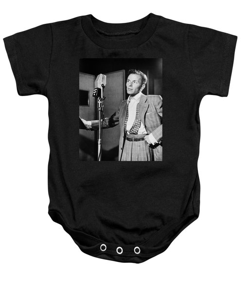 Frank Sinatra Baby Onesie by Mountain Dreams