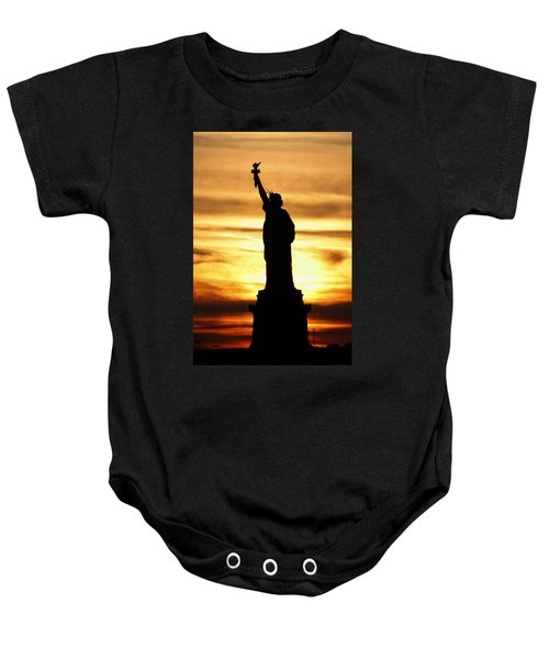 Statue Of Liberty Silhouette Baby Onesie