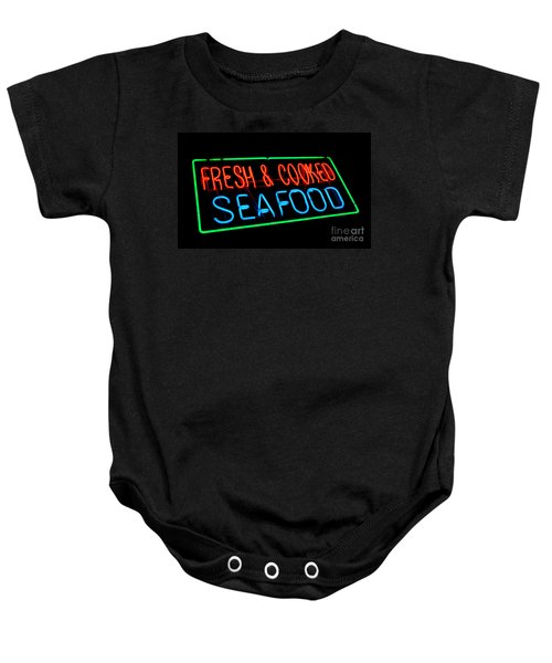 Fresh And Cooked Seafood Baby Onesie