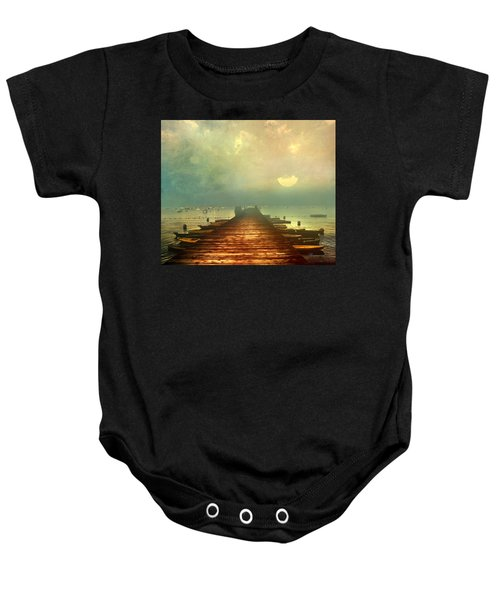 From The Moon To The Mist Baby Onesie