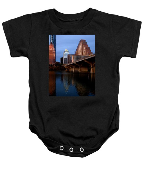 Frost Across The River Baby Onesie
