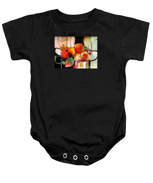 Fruit On A Dish Baby Onesie