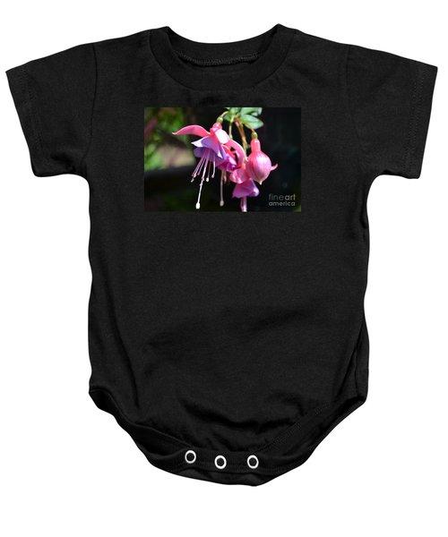 Fuchsia Flower Baby Onesie