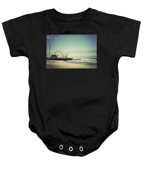 Funtown Pier Seaside Heights New Jersey Vintage Baby Onesie