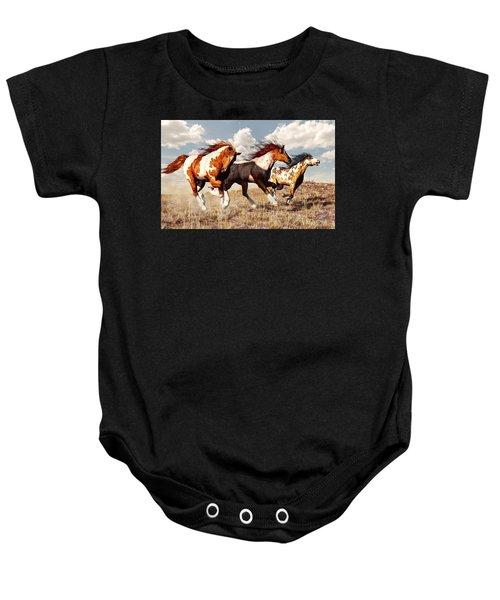 Galloping Mustangs Baby Onesie