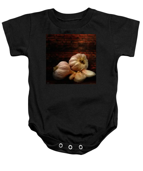 Garlic Baby Onesie by Lourry Legarde