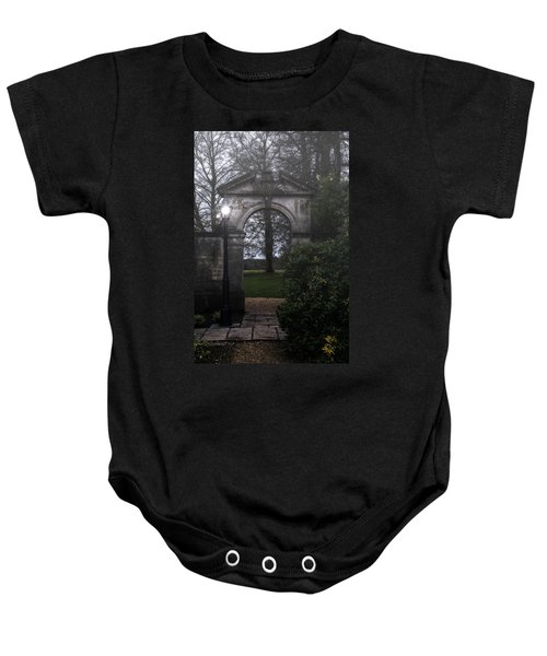 Gate With Lamp Post Baby Onesie