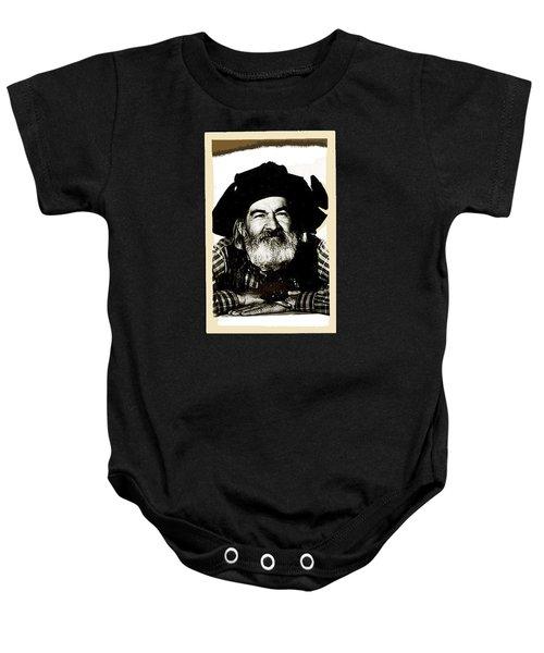 George Hayes Portrait #1 Card Baby Onesie by David Lee Guss