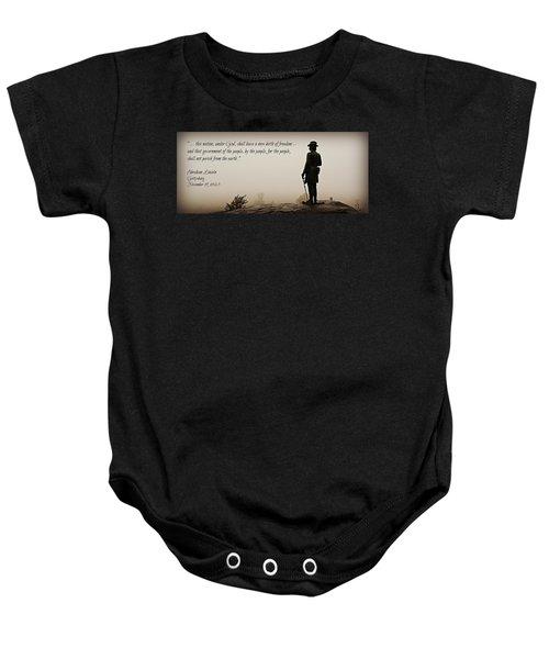 Gettysburg Remembrance Baby Onesie