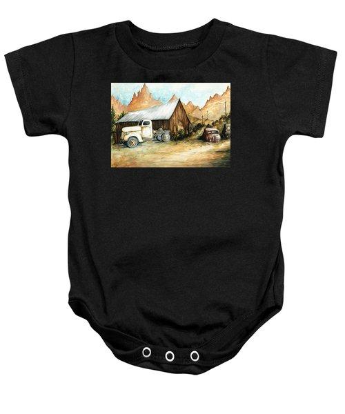 Ghost Town Nevada - Western Art Painting Baby Onesie