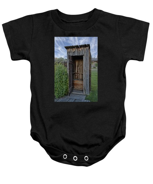 Ghost Town Outhouse - Montana Baby Onesie