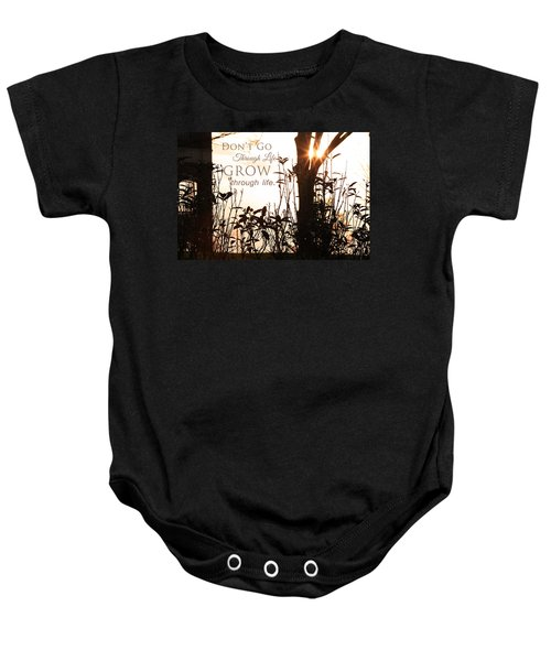 Glowing Landscape With Message Baby Onesie