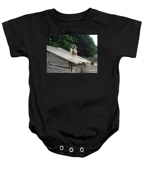 Goat On The Roof Baby Onesie