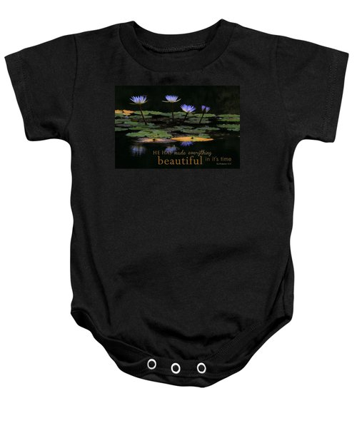 Peace Of Mind With Message Baby Onesie