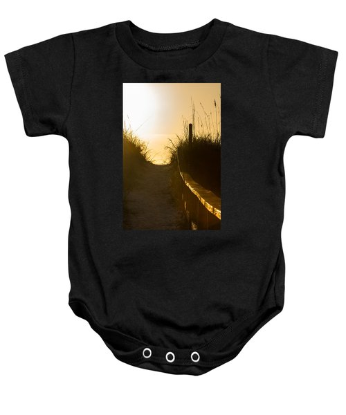 Golden Beach Access Baby Onesie
