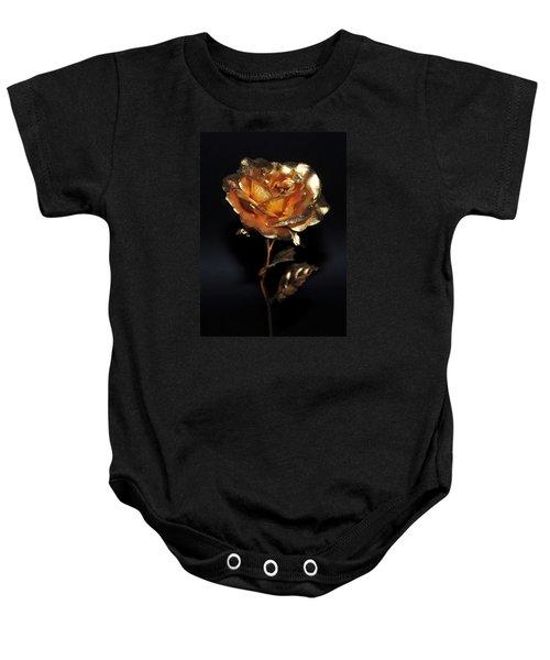 Golden Rose Baby Onesie