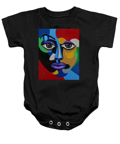 Abstract Face Art Abstract Painting Eye Art Baby Onesie