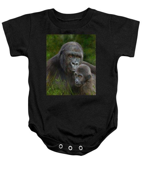 Gorilla And Baby Baby Onesie