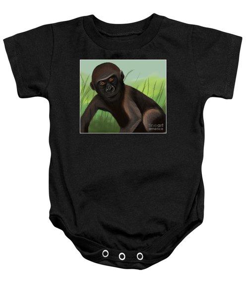 Gorilla Greatness Baby Onesie