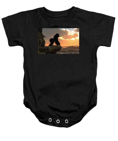 Gorilla Sunset Baby Onesie
